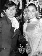 Roman Polanski and Sharon Tate on their wedding day in 1968.