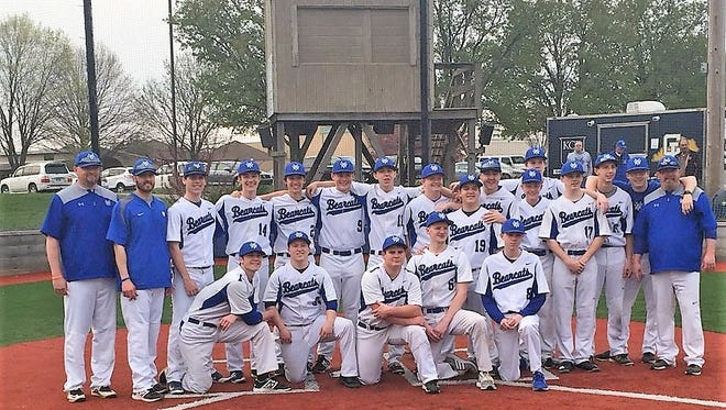 """Walton-Verona baseball after winning the All """"A"""" sectional game over Kentucky Country Day"""