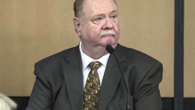 Carlton Nebergall testifies in his own defense during his trial in West Palm Beach Tuesday, March 11, 2020.