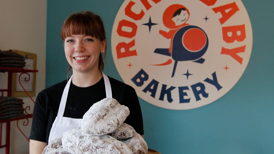 Allie Howard, Rocket Baby Bakery pastry chef, with