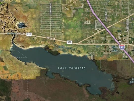 This Bing map shows the Lake Poinsett area, where post-Hurricane