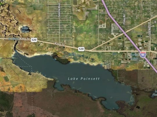 This Bing map shows the Lake Poinsett area, where post-Hurricane Irma flooding is expected into next week.