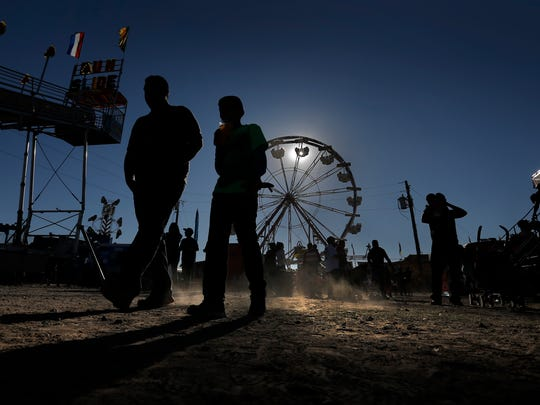 El Pasoans stroll through the Sun City Fair last year at Ascarate Park.
