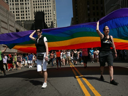 The Motor City Pride Parade kicks off at noon Sunday at Fort and Griswold in downtown Detroit.
