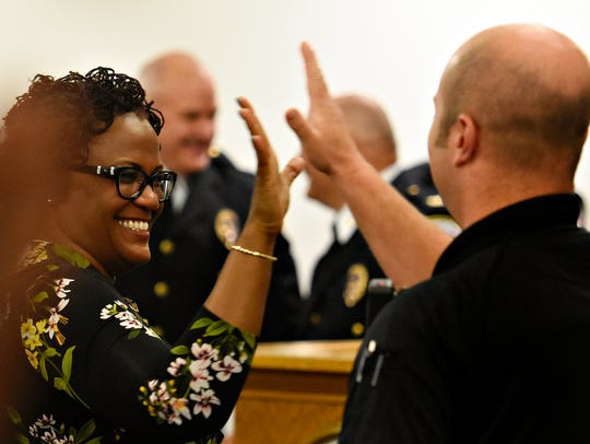 York City Police Officer Rich Kehler III, right, is