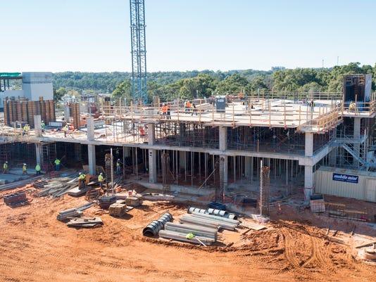 Children's Hospital construction