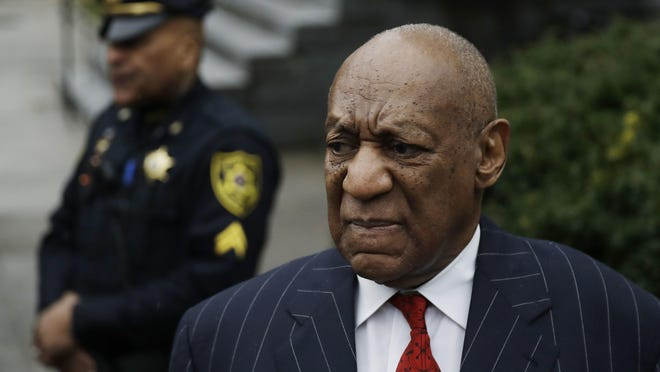 Bill Cosby arrives for a pretrial hearing in his sexual assault case, March 29, 2018, at the Montgomery County Courthouse in Norristown, Pa.