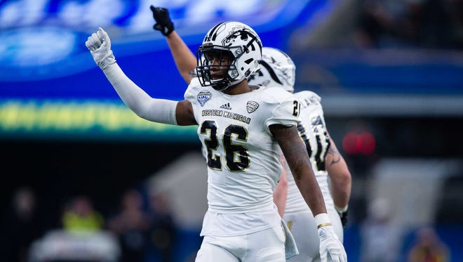 Western Michigan Broncos defensive back Davontae Ginwright (26) in action during the game against the Wisconsin Badgers in the 2017 Cotton Bowl game at AT&T Stadium on Jan. 1.