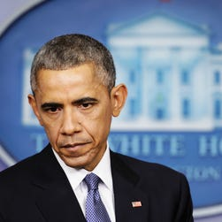 Barack Obama during his last news conference of the year.