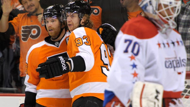 Claude Giroux and Jake Voracek will both head to Columbus in two weeks as All-Stars.