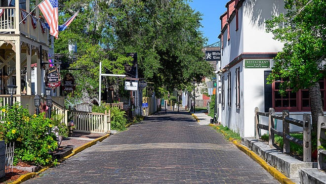 A photograph shows Cuna Street in St. Augustine on Monday. St. Augustine's Historic Architectural Review Board recently approved 3-0 a certificate of appropriateness for a plan to make improvements to sections of Spanish Street, most of Cuna and Tolomato Lane in the city.