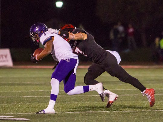 Southern Utah safety Kyle Hanneman (7) makes a tackle