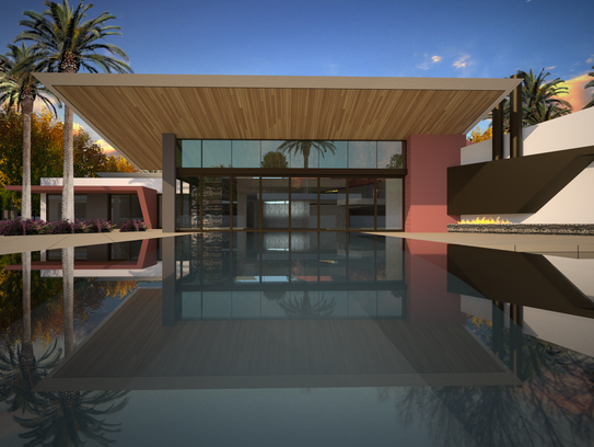 Chandi building 30m compound for family in rancho mirage for Local home builders