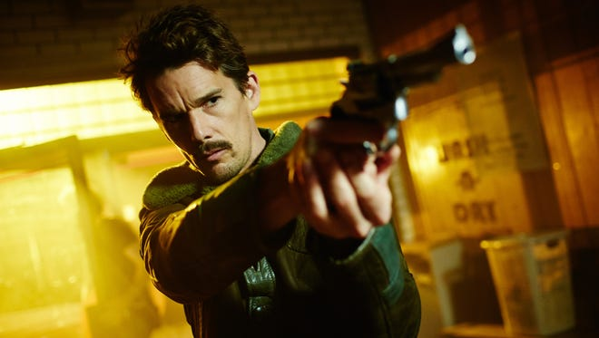 Ethan Hawke stars as a time-traveling agent in 'Predestination.