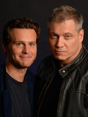 'Mindhunter' co-stars Jonathan Groff, left, and Holt