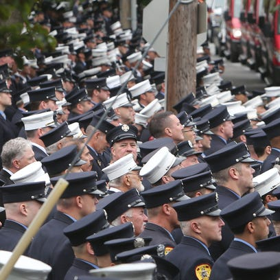 Funeral for FDNY Chief Michael Fahy at Annunciation