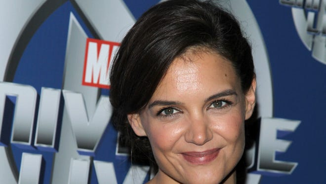 Katie Holmes attends Marvel Universe LIVE! NYC World Premiere on August 13, 2014 in New York City.
