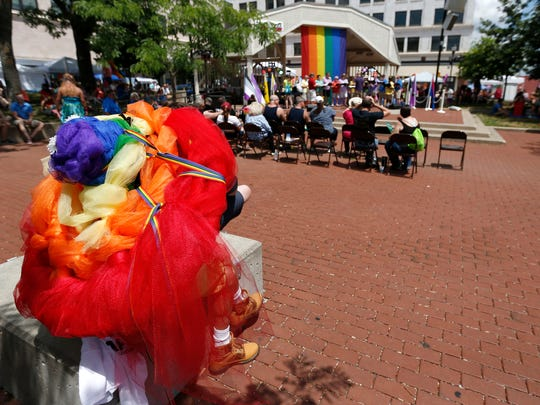 Greater Ozarks Pridefest took place on Park Central Square on Saturday, June 16, 2018.