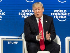 Trump's slap at 'fake' media draws boos, hisses from Davos crowd