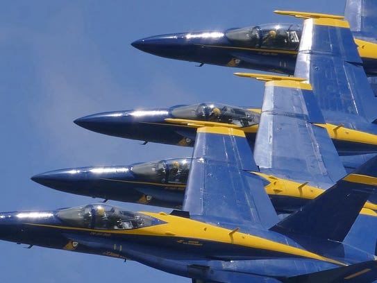 Blues Angels practice flights are set for Tuesday and Wednesday this week at Pensacola Naval Air Station. Members of the Blue Angels will sign autographs and answer questions on Wednesday.