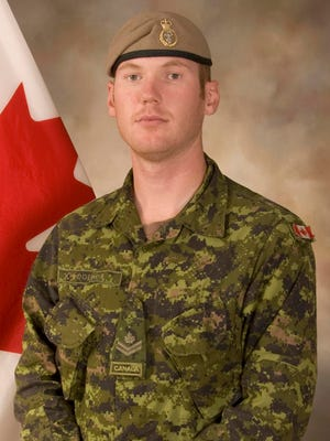 This Sept. 16, 2009 photo shows Sgt. Andrew Joseph Doiron, a member of the Canadian Special Operations Regiment.