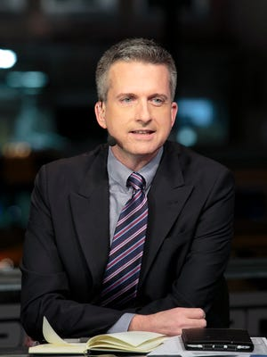 """Bill Simmons on the set of """"NBA Countdown"""" in 2013 in New Orleans."""