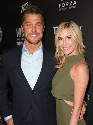 Chris Soules (L) and Whitney Bischoff attend the charity screening of 'WINNING: The Racing Life Of Paul Newman' at the El Capitan Theatre on April 16, 2015 in Hollywood, California.