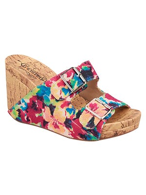 2. PETAL POWERBold blooms are springing up on all types of fashions — even footwear. From bright, botanical-printed canvas shorts to dainty stems on silk-satin tops and budding footwear, fashionistas are planting flowers in their wardrobes this season. Unlisted Growing Wings wedge sandal, $44.95, Stein Mart.
