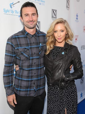 Musicians Brandon Jenner (L) and Leah Felder
