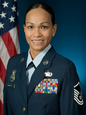 Master Sergeant Maria Victoria R. Quitugua, 2015 Air National Guard Outstanding Senior NCO of the Year. (Air National Guard photo by MSgt Marvin R. Preston/Released)