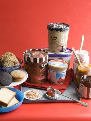 Ingredients are shown for an ice cream sandwiches buffet.