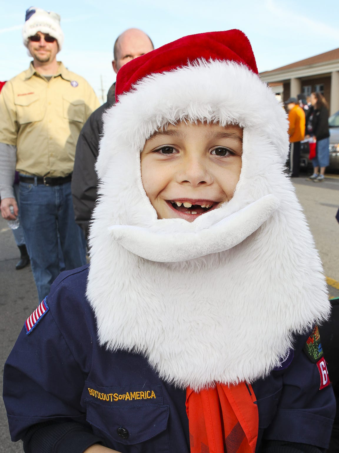 Ben Keener of La Vergne gets ready to join the parade route with his Cub Scout troop at last year's Parade of Lights in La Vergne.