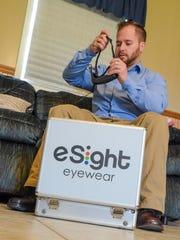 Hunter Tribe demonstrates eSight Glasses.