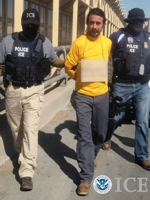 U.S. Immigration and Customs Enforcement officials arrested Carlos Perez-Garcia, who was wanted in an aggravated homicide in Mexico.