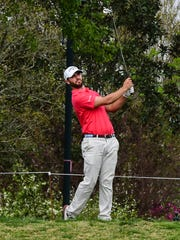 Wesley Bryan on the tee box during the second round