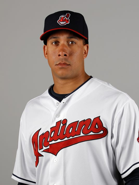 This is a 2016 photo of Michael Brantley of the Cleveland Indians baseball team. This image reflects the 2016 active roster as of Saturday, Feb. 27, 2016 when this image was taken. Brantley will not be in the lineup on opening day despite making major progress following offseason shoulder surgery. Manager Terry Francona said Sunday, March 27, 2016 that Brantley is not quite ready and will not be in left field on opening day. (AP Photo/Morry Gash)