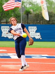 STM starting pitcher Whitney Romero ruled the show in the circle and at the plate in the Lady Cougars' 5-1 win Tuesday over Cecilia.