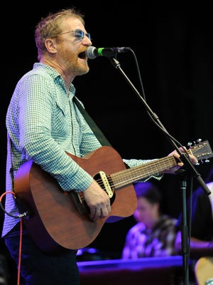 """David Lowery of Cracker performs during the """"Last Summer on Earth Tour 2012"""" at the Cruzan Amphitheater on July 18, 2012 in West Palm Beach, Florida."""