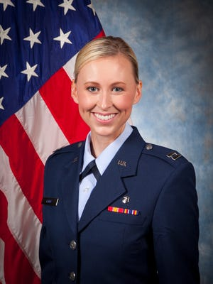 Capt. Kelby Tyler-Kuhn is currently stationed in San Antonio, Texas, and heads a large out patient pharmacy in the U.S. Air Force. She's a former Miss Washington County and is currently among the 25 finalists in the Ms. Veteran America competition.