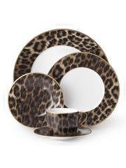 Ralph Lauren's 5-piece Hutchinson place setting adds a wild look to your dinner table, $225, neimanmarcus.com (Neiman Marcus)