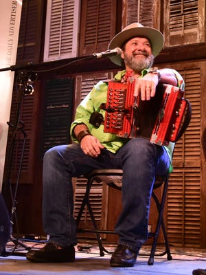 SCOTT CLAUSE/THE ADVERTISER Wayne Toups performs at  Acadiana Strong Sept. 4 at Evangeline Downs.
