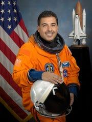 Astronaut Jose M. Hernandez, mission specialist, Feb.