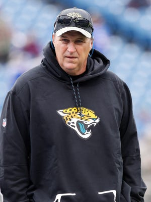 Doug Marrone was named interim coach of the Jaguars on Monday.