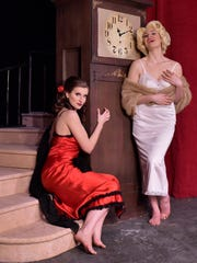 Mary Beth Nelson, left, and Stacey Geyer star in the