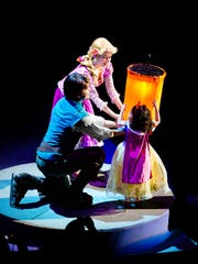 A child is picked from the audience to participate