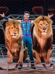 Animal trainer Alexander Lacey and his lions are among the many stars of Ringling Bros. and Barnum & Bailey Circus.