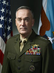 Gen. Joseph Dunford, chairman of the Joint Chiefs of Staff, is seen in this official Department of Defense portrait.