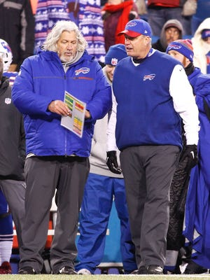 Former Bills head coach Rex Ryan (right) and his brother Rob got into a scuffle over the weekend in Nashville.