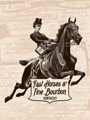 """Fast Horses & Fine Bourbon"" a print designed by MissHappyPink"