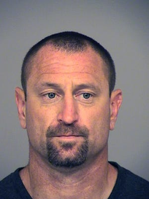 This undated booking photo provided by the Ventura County Sheriff shows Andrew David Jensen, 42, of Ventura, Calif., who was arrested on July 28, 2017. on suspicion of committing a burglary. California investigators say Jensen, a suspect who stopped for a mid-burglary bathroom break left DNA evidence in the toilet that led to his arrest. The Ventura County Sheriff's Office says the suspect neglected to flush during the home break-in last October in Thousand Oaks, Calif.